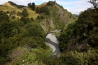 The Ruataniwha Dam project's proposed site on the Makaroro River in Central Hawke's Bay. Photo / File