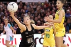 Anna Thompson attempts to control the ball during game one of the Constellation Cup series against the Diamonds. Photo / Getty Images