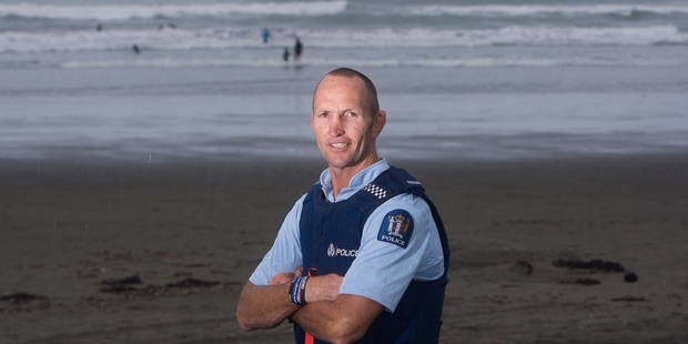 Whakatane's Constable Dean Oswald has been recognised for his part in the January rescue of three swimmers. Photo / Ben Fraser