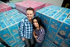 Kevin and Pia D'Ambros-Smith started out selling nappies online. Yesterday they launched Supermarket Online, delivering products nationwide. Photo / Dean Purcell
