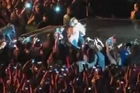 Beyonce pulled off stage by a fan in Sao Paulo, Brazil - Morumbi Stadium. Courtesy: YouTube/hugo711
