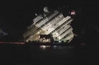 Time-lapse footage shot by an Associated Press photographer shows the wreckage of the Costa Concordia cruise ship being pulled completely upright during a complicated, 19-hour operation.
