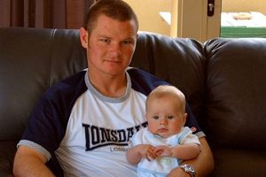 Married father and suicide victim Brad Milne, described as an 'exceptional human being', with his young nephew.