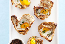 Bacon & egg in bread cases. Photo / Food Hub