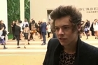 At the Burberry London Fashion Week show, One Direction star Harry Styles talks about how he gets dressed in the morning, while Sienna Miller reveals how it was to work on a Burberry campaign with her fiance Tom Sturridge.