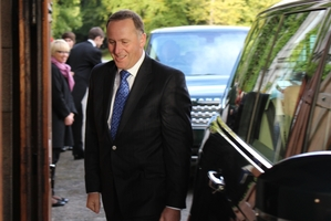 Prime Minister John Key arrives for a meeting with the Queen.Photo / Claire Trevett