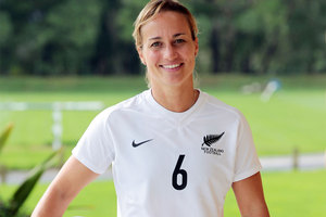 Former New Zealand women's football captain Rebecca Smith has announced her retirement. Photo / Getty Images.