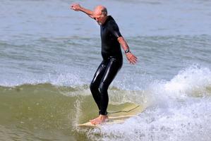 Wayne Brown surfs most days he can at Tokerau Beach. Photo / Malcolm Pullman