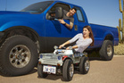 It's official, Texan Austin Coulson's car is officially the world's smallest street legal car.Picture / Jalopnik.com