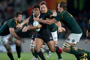 The Springboks had headed into this test on top of the Rugby Championship and were confident they could beat the All Blacks. Photo / Brett Phibbs