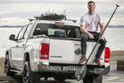 Jay Reeve with his VW Amarok Ute. Photo / Ted Baghurst.
