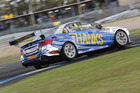 Craig Baird racing his Mercedes at the Sandown track.