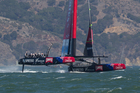 The fairings over the foredeck of Emirates Team New Zealand improve the aerodynamic profile reducing drag and helping with lift. Photo / Brett Phibbs