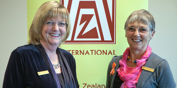 Council candidate Gail McIntosh (left) and Zonta member Frances Wilcockson at the female election candidates meeting held by Zonta last night. Photo / Andrew Warner