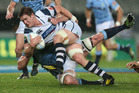 Sean Polwart of Auckland is tackled during the round six ITM Cup match between Auckland and Northland. Photo / Getty Images