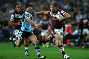 Kieran Foran believes Manly can get the better of Souths. Photo / Getty Images
