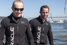 Oracle skipper Jimmy Spithill (left) and tactician Ben Ainslie have plenty of reasons to look pleased with themselves after outfoxing Team New Zealand in the 12th race yesterday.