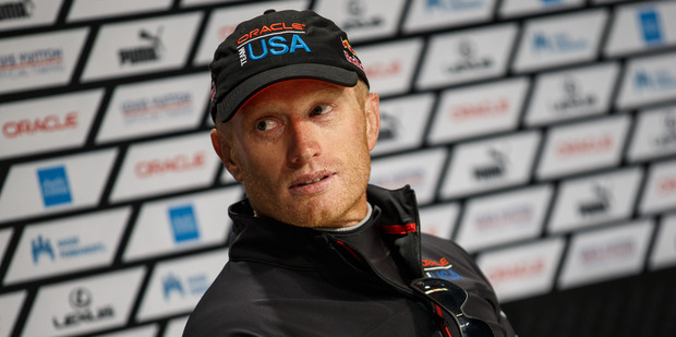 Jimmy Spithill's cocky tweet caused an uproar. Photo / Abner Kingman