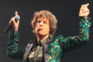 Mick Jagger will become a great grandfather next year.Photo / AP