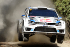 Sebastien Ogier of France and his co-driver Julien Ingrassi race their car during the Rally Australia at Coffs Harbour. Photo / AP