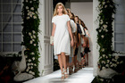 Cara Delevingne features in the Mulberry show at London Fashion Week. Photo / Jonathan Short/Invision/AP