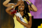 Miss New York Nina Davuluri is crowned as Miss America 2014 by Miss America 2013 Mallory Hagan.Photo / Mel Evans