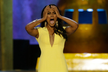 Miss New York, Nina Davuluri, reacts after being named Miss America 2014.Photo / Mel Evans