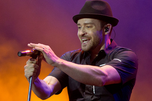 Justin Timberlake has suggested a boy band super group.Photo / AP