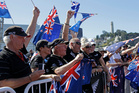 Fans of the Emirates Team NZ. Photo / AP