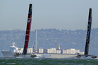 Emirates Team New Zealand's quest for the America's Cup was denied for another day Photo / Getty