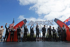 Emirates Team New Zealand before the 13th race.Photo / AP