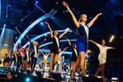 Contestants dance on the runway during the opening number of the preliminary competition of the 2014 Miss America Pageant.Photo / AP