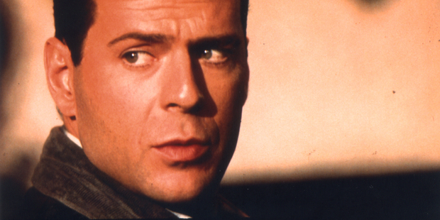 Bruce Willis in the 1988 film 'Die Hard'.