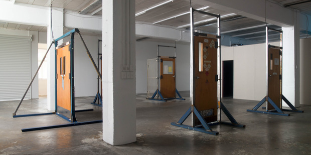 Michael Stevenson installation at Michael Lett. Photo / Chris Gorman