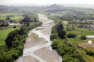 The scheme will generate electricity, protect minimum flow levels on the Tukituki River. Photo / Paul Taylor