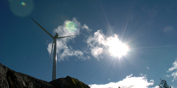Meridian Energy Te Apiti Wind Farm on the Ruahine Ranges between Woodville and Ashurst.