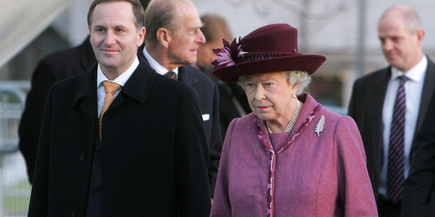 John Key and Queen Elizabeth will have plenty to catch up on since the Prime Minister's last visit to London, seen here in 2008. Photo / NZPA