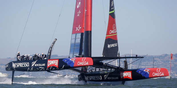 Team NZ trimmer Glenn Ashby acknowledged it must have been a tough one for Kiwi fans to watch. Photo / AP