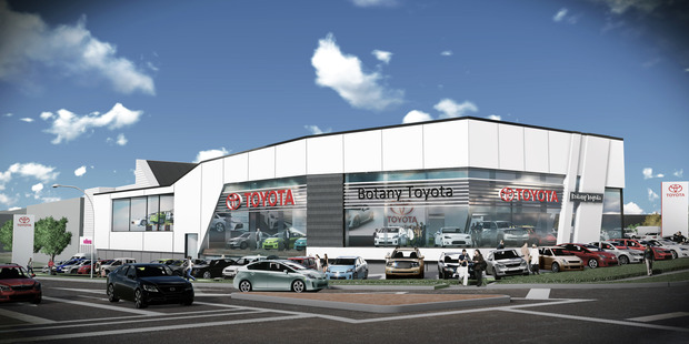 The Botany Toyota service centre has been designed to create a landmark building with a dynamic, high-tech image for the busy corner.