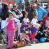 Part of the crowd, Queen St - Blossom Parade, Hastings Blossom Festival. Photo / Duncan Brown