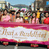 The Hawke's Bay Thai and Buddhist Community section of the parade proudly make their way down Queen St.  Photo / Duncan Brown
