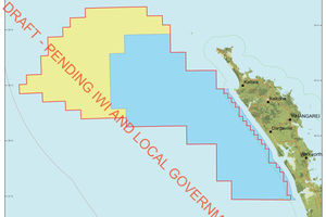 The yellow block is up for the 2014 oil and gas bidding round. The blue area was in the 2013 block.