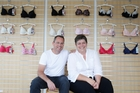 Stefan Preston and Sue Dunmore of lingerie company Rose & Thorne Design. Photo / Richard Robinson