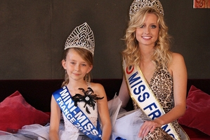 Oceane Scharre, 10, was elected Mini-Miss France 2011. Photo / AP