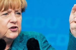 Angela Merkel admits the EU can make her angry. Photo / AP