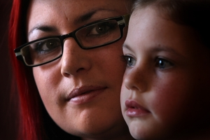Nicole Thompson-Connell took her daughter Courtney Geary, 6, to Otumoetai Primary because the school nearest her was a low-decile one. Photo / John Borren