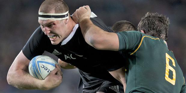 Loading All Blacks lock Brodie Retallick in action against South Africa. Photo / Brett Phibbs