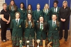 The Wanganui High School A1 team with their trophies from the Netball Wanganui prizegiving. PHOTO / SUPPLIED 190913WCSPWHS-A1-TROPHIES-2.