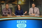 Multiple presenters and meaningless stories on Seven Sharp provide lightweight magazine fare aimed at a younger audience.