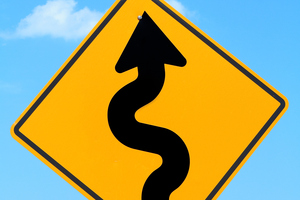 Windy road ahead sign. Photo / Getty Images